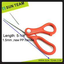 "SC185B 5-1/4"" bend curved handle office used paper cutting scissors"