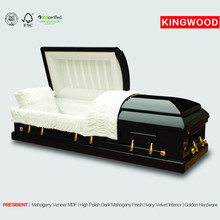 PRESIDENT Mahogany wood funeral caskets from kingwood coffins and caskets