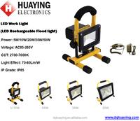 Mini 5W 10W portable emergency LED flood light, 20W 30W 50W Rechargeable LED work light