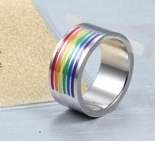 good quality gay men ring/fashion rainbow color gay men wedding ring