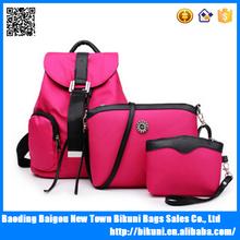 Fashion teen girl backpack three-piece suit shoulder bag women backpack bag