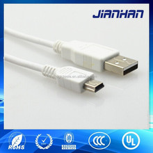 corrosion resistant usb data cable mini 5 pins for digital camera