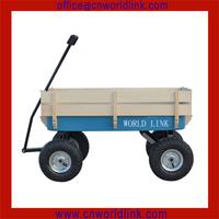 4pcs Big Pneumatic Wheel Wood Rails Garden Bollerwagen