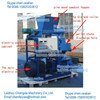 37-90kw double layer ring die wood pellet machine specialty pellet production line