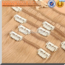 top quality 100% natural human hair clip in highlight hair extensions