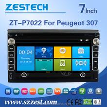 CE EMC LVD FCC touch screen car dvd player For PEUGEOT 307