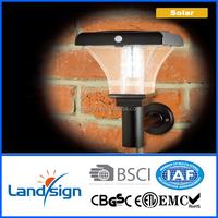 2015 new product solar powered outdoor wall light XLTD-906 garden solar wall light with motion sensor