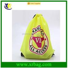 Promotion adverstising nylon shopping drawstring bag with logo