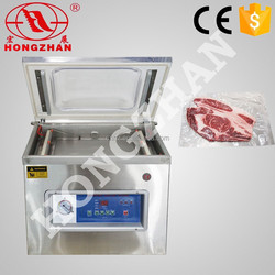 hot sale wenzhou Hongzhan DZ400 stianless steel plastic pouch meat vacuum packing machine