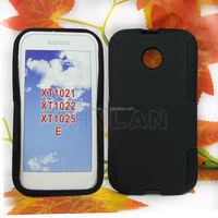 Anti-scratch Dual Color PC + Silicone For Motorola Moto E XT1022 Hybrid Combo hard case