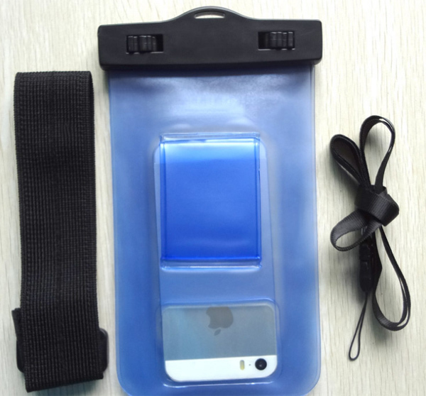 2014Hot Selling White TPU waterproof cell phone bag