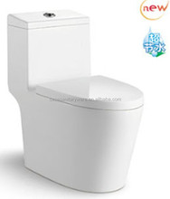 Low profile water saving one piece water closet 4.8L concealed trap toilets