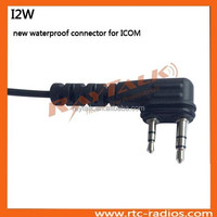 New arrival waterproof connector for Icom 2 pin plug radios IC-F3G IC-F3GS IC-F4G IC-F14 IC-F31 IC-F33