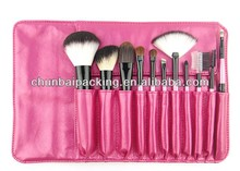hotsale professtional high quality 18pcs makeup brushes for animal hair