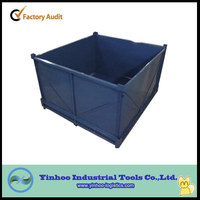 High quality High-capacity welded steel pallet box/stacking welded container