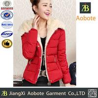 Factory Wholesale Women Padded Short Jacket One Piece Winter
