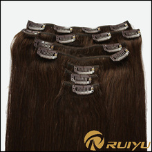 Hot selling 30 inch hair extensions clip in indian and brazilian remy weave hair
