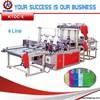 China 6 lines Bag t shirt making machine