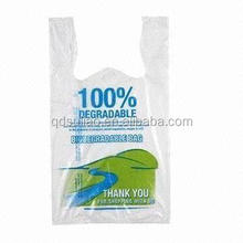T-shirt plastic shopping bag for supermarket