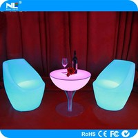 Remote control LED coffee and cocktail table / illuminated LED light up table