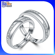 Classic 925 Sterling Silver Couple King and Queen Engagement and Wedding Ring
