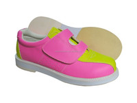 pink beautiful velcro lady's bowling shoe 2015