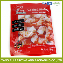 stand up plastic food packaging bag for seafood/food/fish
