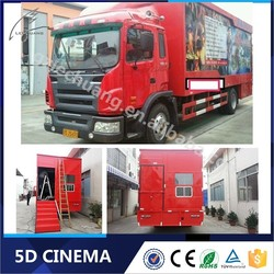 Indoor Playground Equipment Amusement Park Equipment Truck Mobile Kino 12D