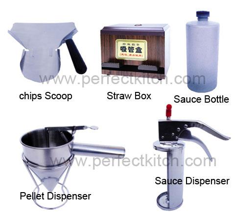 Kfc equipment fryer basket chips scoop sauce dispenser for Perfect kitchen equipment