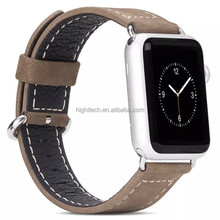 HOCO Real Leather Strap Steel Buckle Adapter Loop Watch Bands for Apple Watch 38mm 42mm