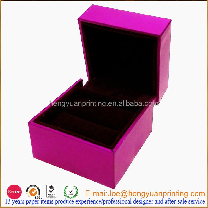 Wholesale custom wedding ring box for engagement velvet for Custom engagement ring box
