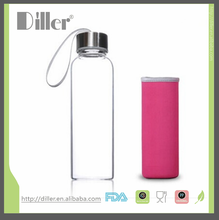 China alibaba topsale product juice water bottle nylon sleeve stainless steel cap 300ML/450ML/500ML