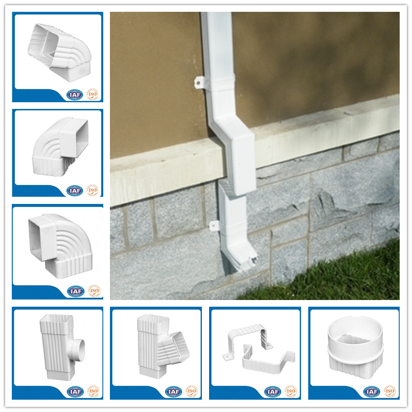No leakage pvc rainwater gutter for rain collection system