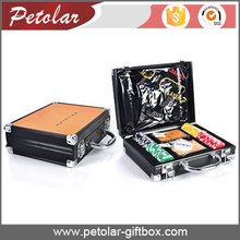 black custom logo printing small aluminum box with handle
