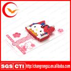 Customed 3D PVC borracha chave cap / cap chave de silicone / logotipo em relevo cap chave para olá kitty