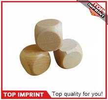 Custom 25mm Big Wood Blank Round Corner Dice
