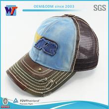 Wholesale 6 panel trucker men mesh cap embroidery patch trucker cap