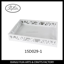 gemstone display wooden plastic composite serving tray for wedding decoration