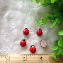 Lastest Design 13*15mm Red Insect Kawaii Druzy Cabochons Wholesale for Children Crafts