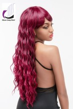 Newest ladiesdexy long wave curly hair wig wholesale synthetic wigs , party wig