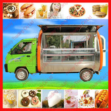 Novo modelo multii função elétrica quiosque reboque comida lanche, Sorvete, Hotdog, Grill