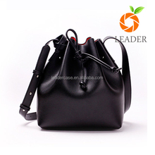 Factory price good quality best sell genuine leather bucket bag ladies for women with coin w