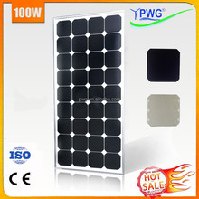 PWG Mono PV Solar Panel 100w Sunpower Kit with CE & ISO Factory Direct Price