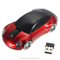 2.4GHz USB receiver mice 1600DPI Optique Gaming Car Wireless Mouse Optical