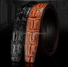 crocodile leather belt for men