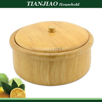 round shape wooden candy storge box