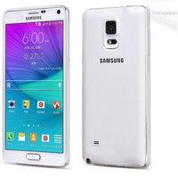 Transparent Clear Crystal TPU Silicone Soft Slim Back Case for note 4