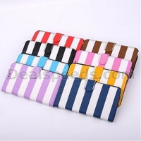 Cross Texture Stripe Pattern Wallet Style Flip Stand Leather PC+PU Cases for Samsung Galaxy Note 3 N9000 N9002 N9005