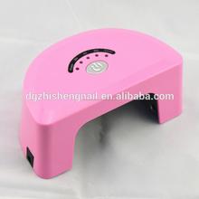 Nuevo diseño profesional 6 W 12 W Mini secador de uñas llevado LED de la lámpara UV para uñas de Gel ( ZS-LED022 )