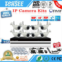 8CH WIFI KITS H.264 960P wifi P2P wireless ip camera kit 4 channel home security CCTV camera NVR system
